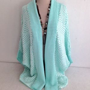 Francesca's Boho Sweater Shrug Long Cardigan